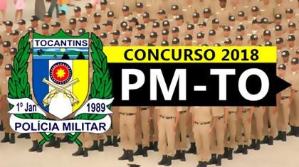 Concurso PM-TO 2018 Soldado e Oficial