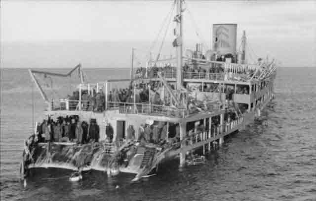 Sinking Soviet transport Josif Stalin in the Gulf of Finland, 3 December 1941 worldwartwo.filminspector.com