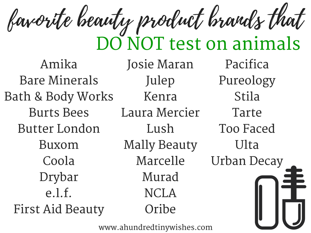 cruelty-free beauty products // a hundred tiny wishes