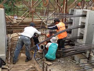 Pekerjaan Balok Girder jembatan
