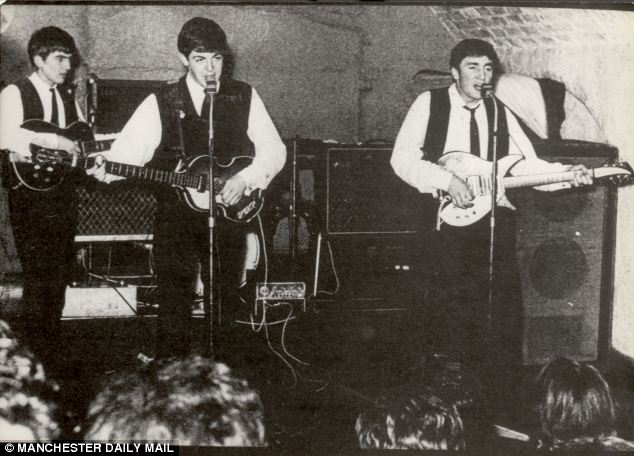 Image result for The beatles play Manchester