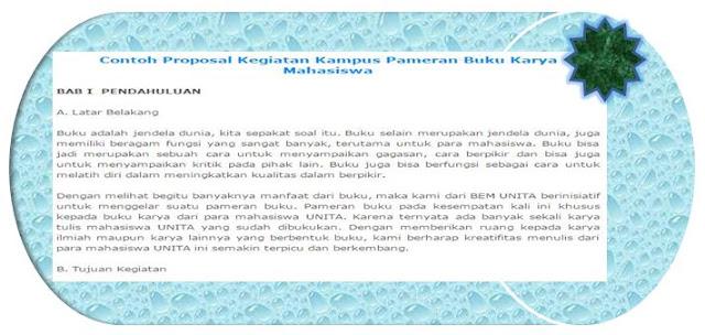 Contoh Proposal Kegiatan Kampus Semua Fakultas