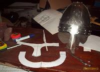 plantillas casco vikingo