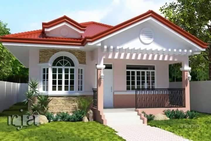 12 House With Red Colored Theme Roofing Bahay Ofw
