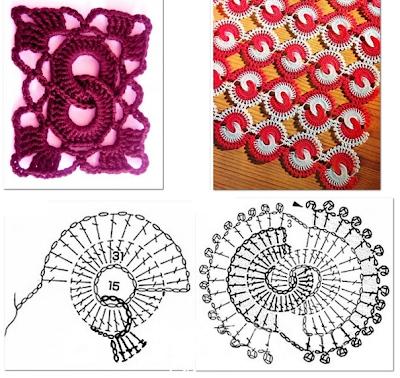 "Punto ""Ochos"" en Crochet Patron"