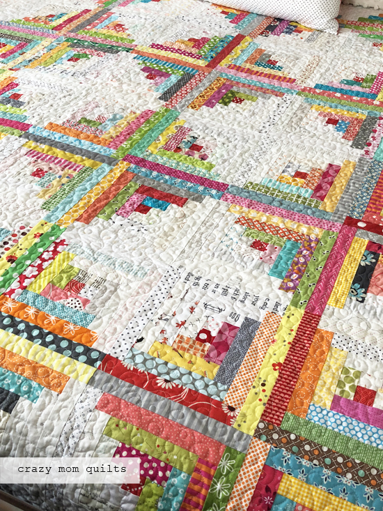 Crazy Mom Quilts A Traditional Log Cabin Quilt Complete