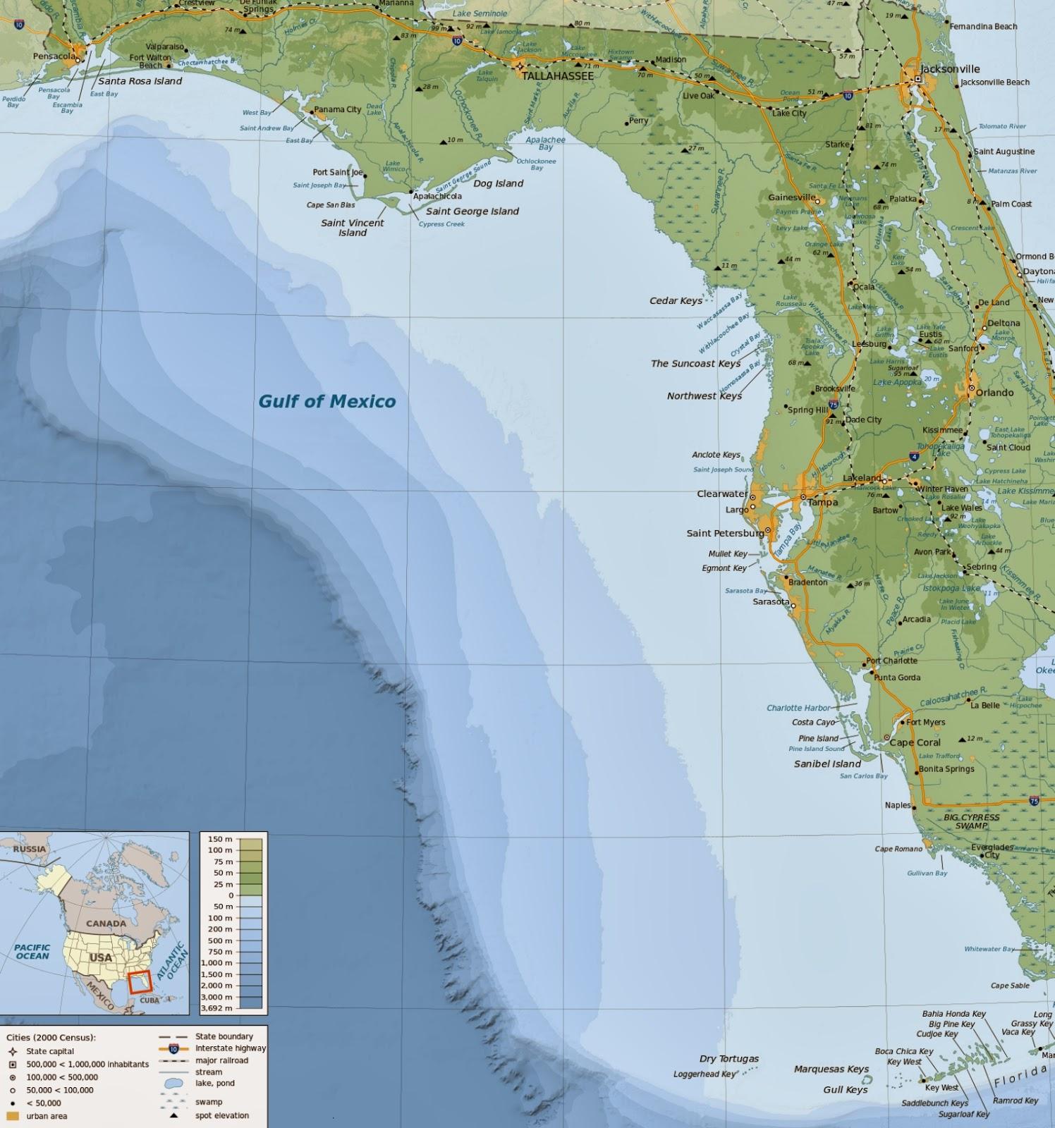 florida gulf coast map map