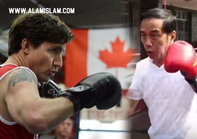Presiden Jokowi latihan tinju dan nonton film Dilan di bioskop dianggap tiru kampanye PM Kanada Justin Trudeau.