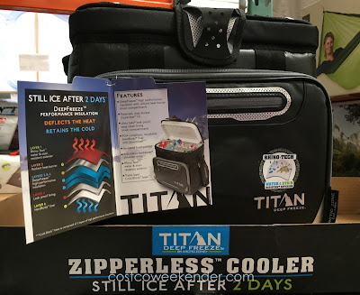 Arctic Zone Titan Deep Freeze Zipperless Cooler - Smart Shelf fits inside hard liner to separate food and drinks