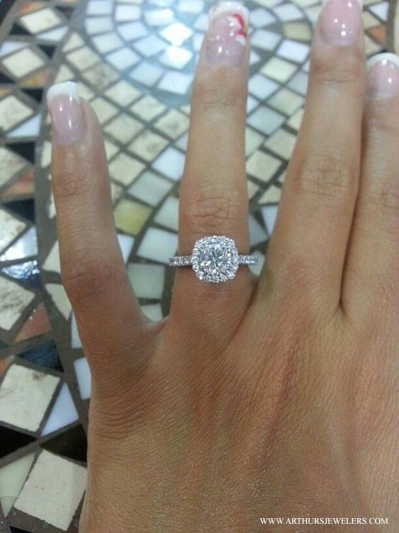 Tacori Engagement Ring With 61 5k Pins