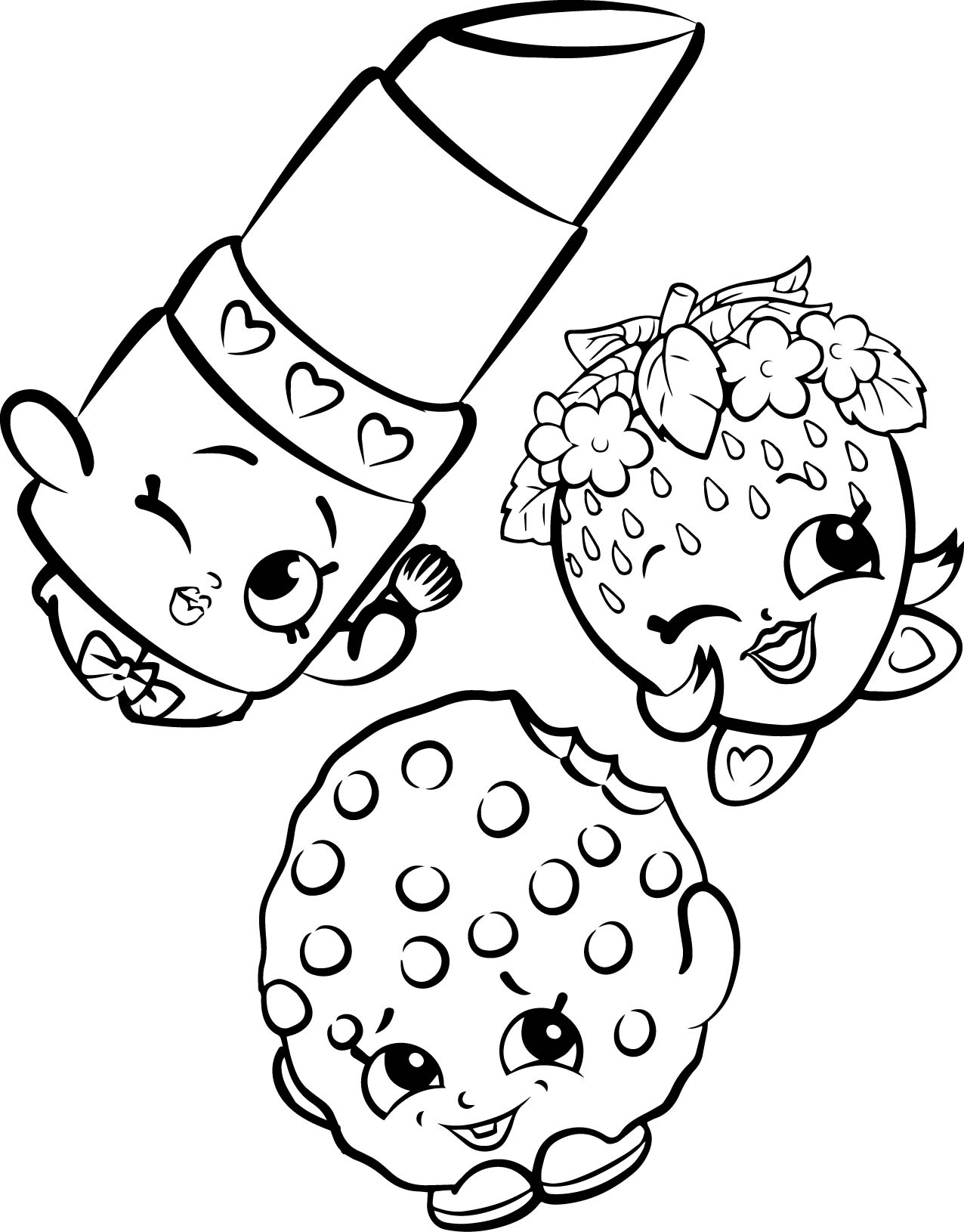Shopkins coloring pages kook cookie - Your Mouth Will Water With These New Shopkins Coloring Pages But Dont Eat