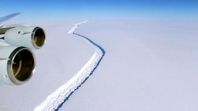 اكبر جبل جليدي في العالم على وشك الانفصال عن قارة انتاركتيكا
