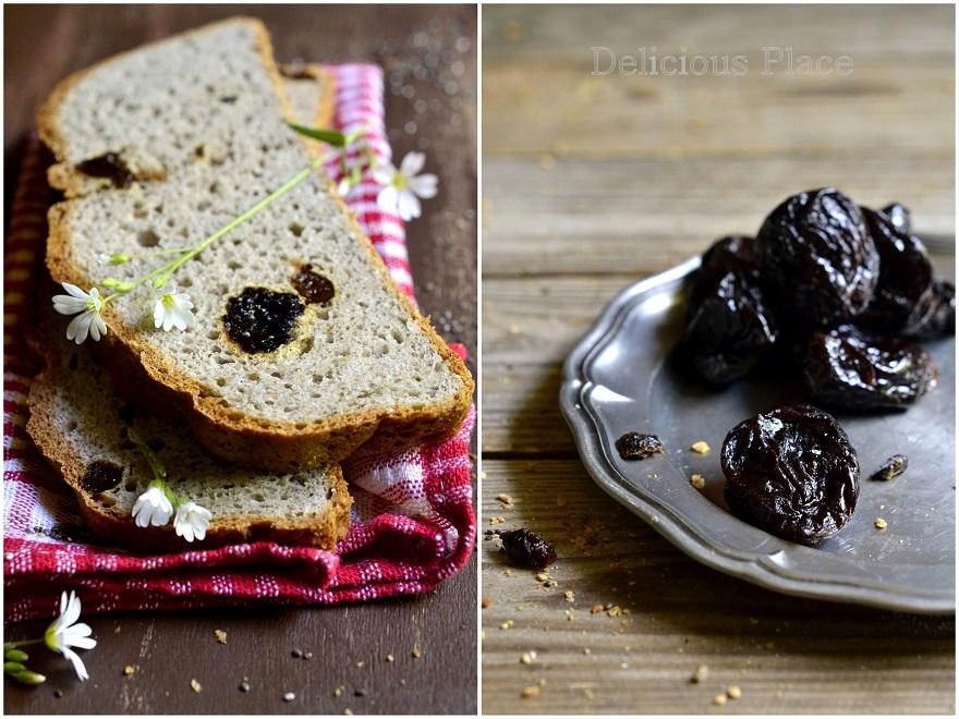 Bezglutenowy chleb z chia i śliwkami