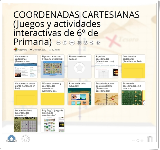 """""""12 juegos y actividades interactivas para el aprendizaje de las COORDENADAS CARTESIANAS en 6º de Primaria"""""""