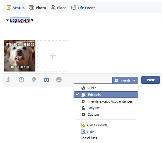 Manage Facebook Photos Privacy with Inline Audience Selector