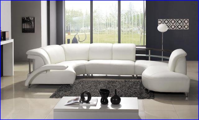 Kursi Sofa Ruang Tamu Warna Putih