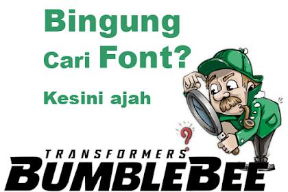 Bingung Font Jenis Apa? Cari Jenis Font disini