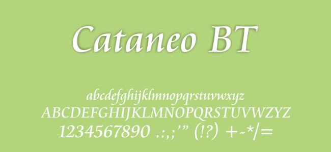 Kumpulan Font Undangan - Cataneo BT