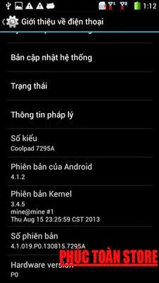 Tiếng Việt CoolPad 7295A 4.1.2 alt