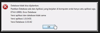"""Cara Mengatasi Error Database """"Versi Aplikasi Dan Database Tidak Sama"""" Di Aplikasi e-Faktur Pajak"""