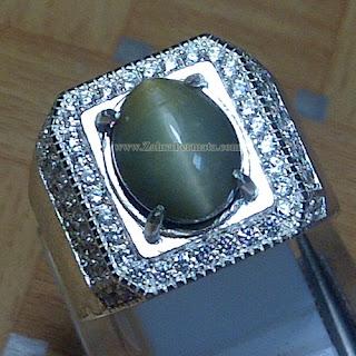 Cincin Batu Permata Cat Eye Quartz - ZP 853
