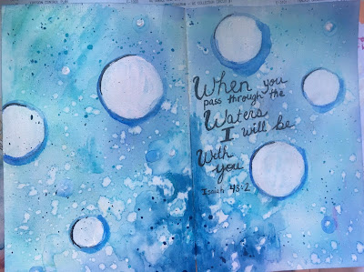 Art Journal Challenge: Only one Color