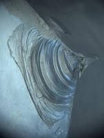 conchoidal fracture in quartz