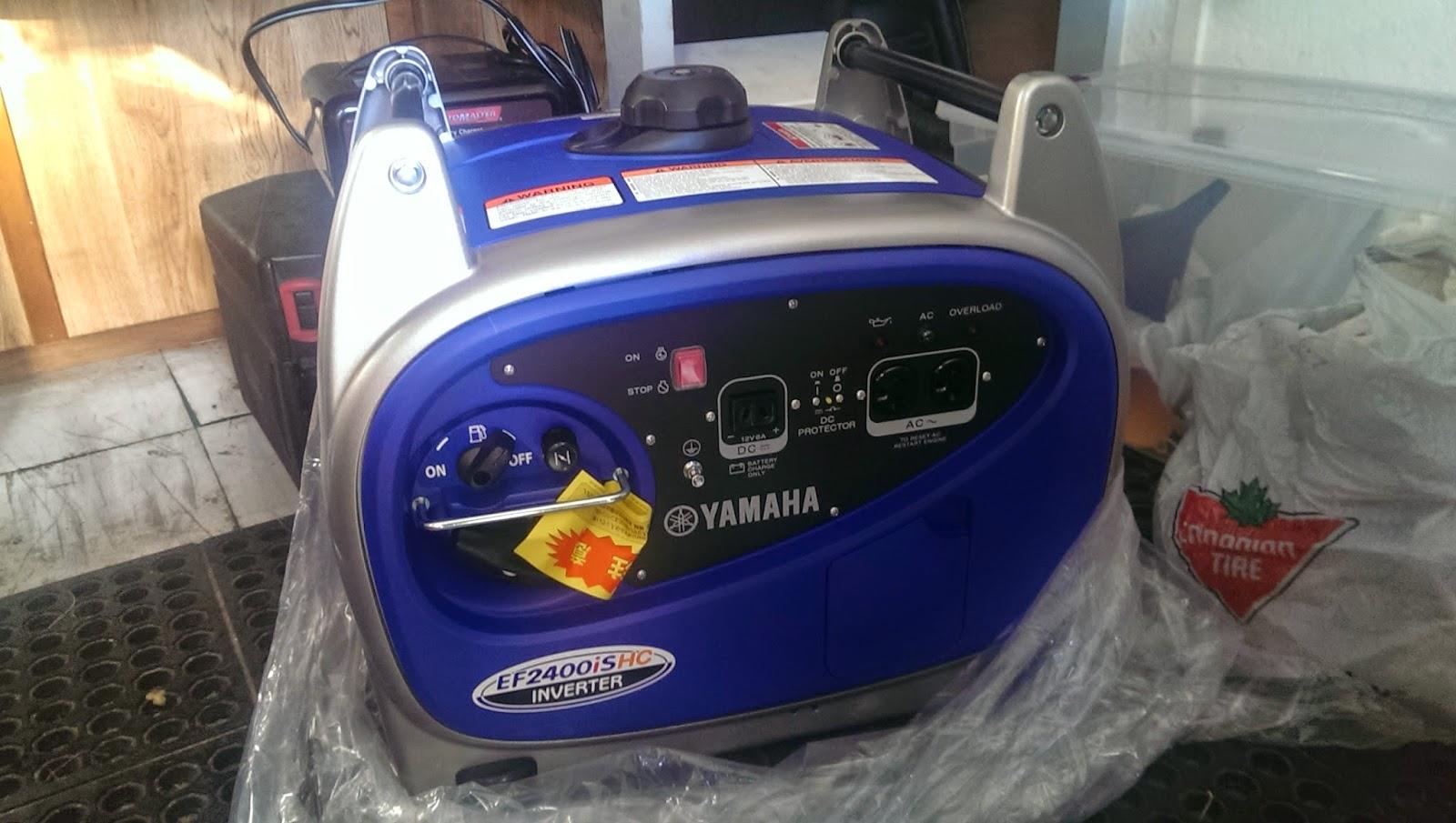 EFYamaha2400iSHC generator
