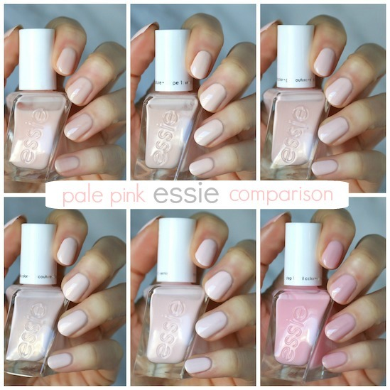 Comparison Pale Pink Gel Coutures Fairy Tailor Lace Me Up Wearing Hue Matter Of Fiction Radiant Cut Blush Worthy Inside Scoop Essie Envy