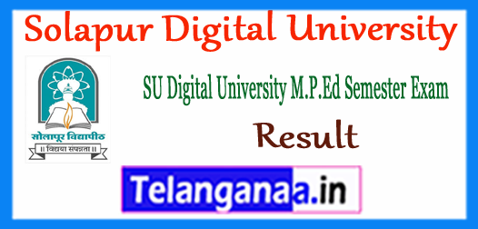 Solapur Digital University B.P.Ed M.P.Ed Result 2017
