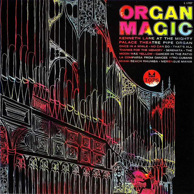 Kenneth Lane Organ Magic large color art for record cover