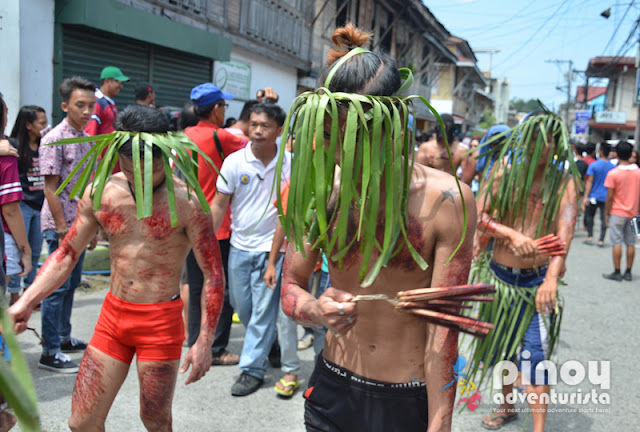 Flagellants where also present to do their Good friday panata