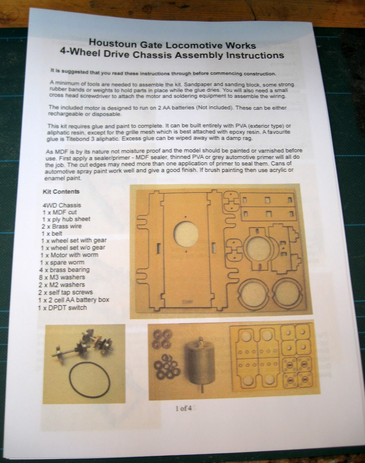 Peckforton Light Railway How I Constructed A Hglw Loco Kit And Analog Integrated Circuits Batteries Not Needed The Mitre Laser Cut Mdf Sections Were Separated From Their Fret Tidied Up With Sanding Block