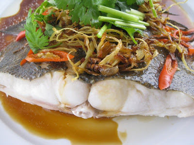 My Asian Kitchen Steamed Flounder With Soy Sauce Sake And
