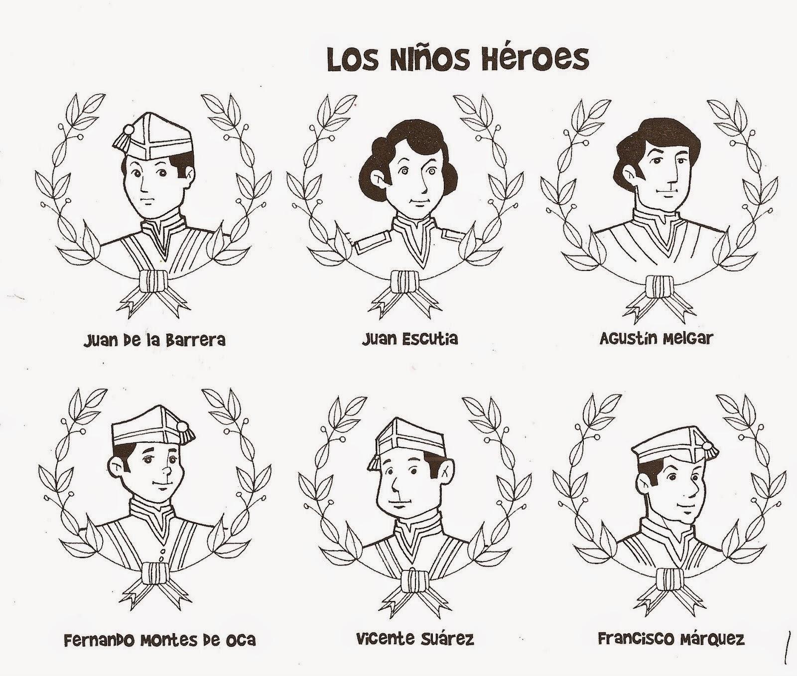 Los Niños Héroes Para Colorear Colorear Dibujos Infantiles