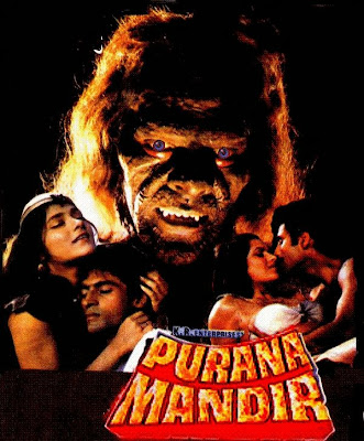 Poster Of Bollywood Movie Purana Mandir (1984) 300MB Compressed Small Size Pc Movie Free Download worldfree4u.com