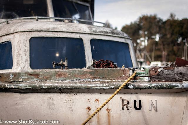 A picture I shot in Fort Bragg, CA at the marina of a decaying boat