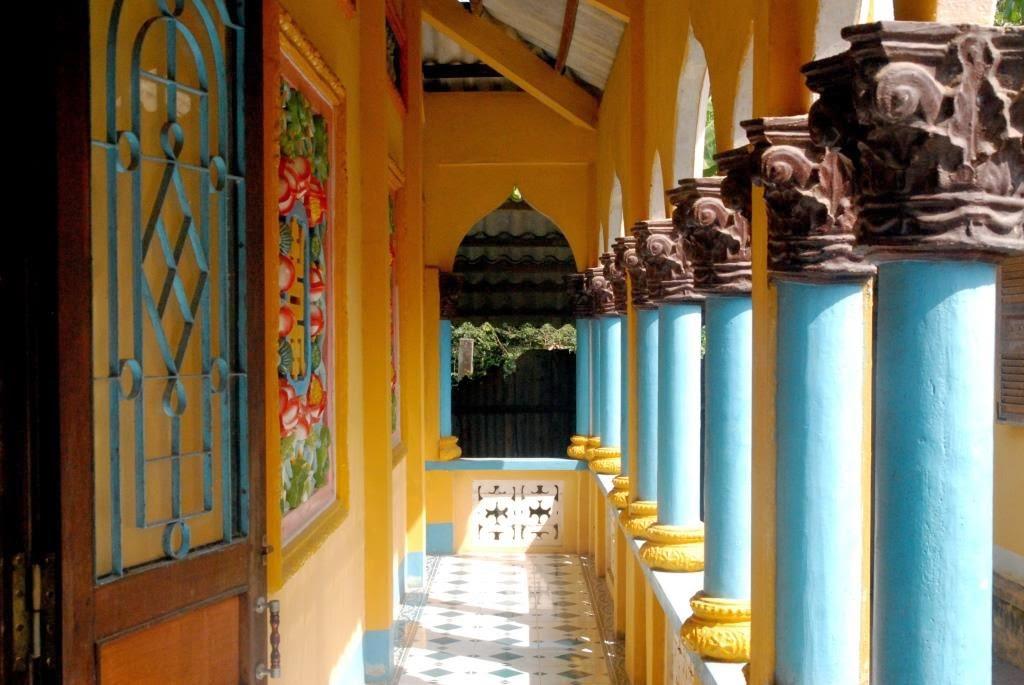 cao dai tempel vietnam, zuiden vietnam