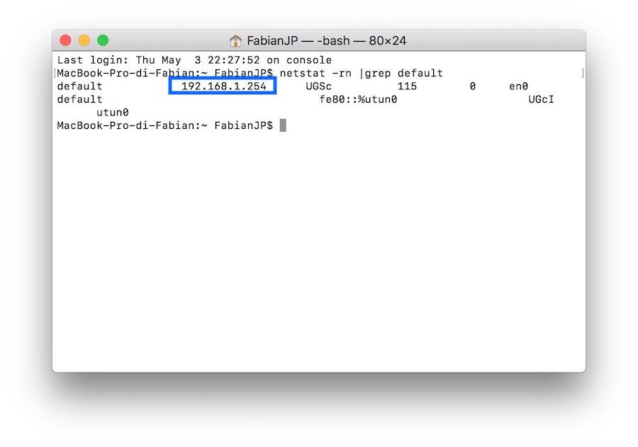 Come Trovare l'indirizzo IP di un Router su MAC