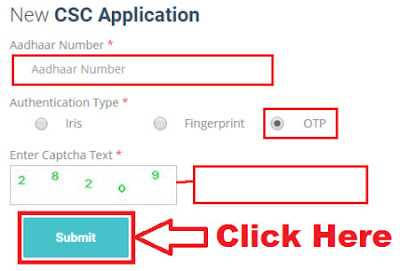 how to apply for csc center online