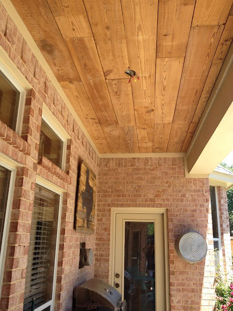 Crafty Texas Girls Build It Reclaimed Wood Ceiling