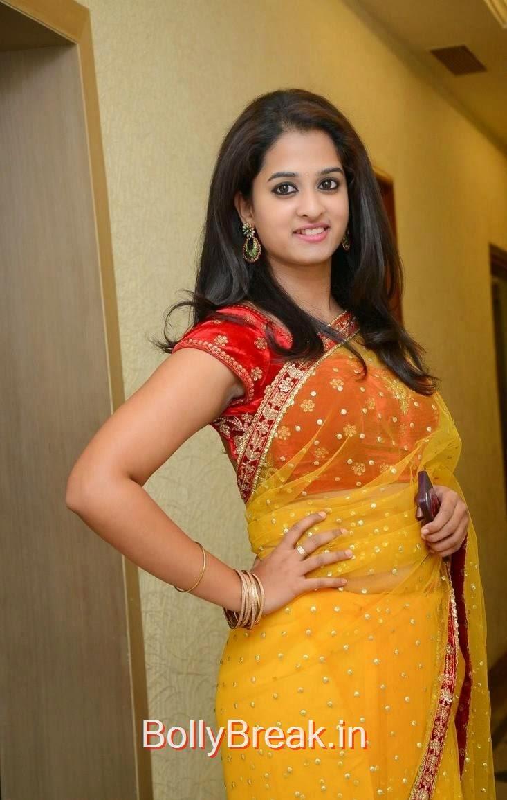 Nanditha Photos, Actress Nanditha Yellow Saree Navel pics in HD from Ram Leela Movie