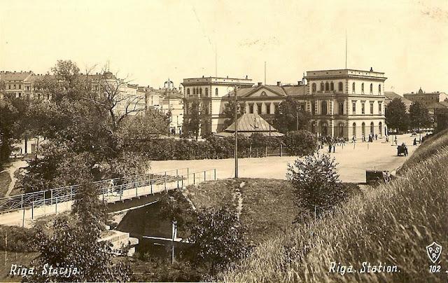 1930-е годы. Rīgas pasažieru stacija