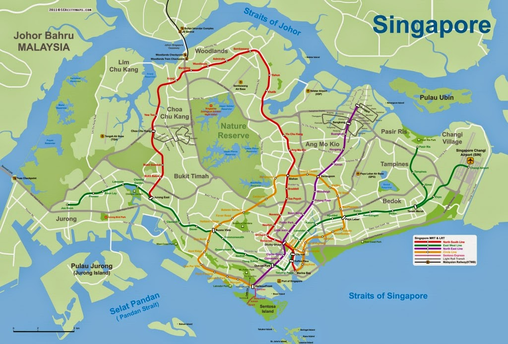 Map of Singapore 10 Most Beautiful Island Countries in the World