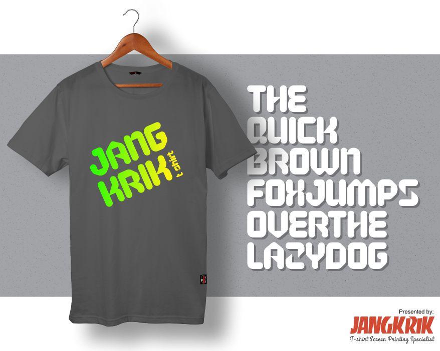 5 Font Keren untuk Desain Kaos #1 ~ Ini Blognya Jangkrik T ...