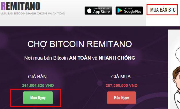 sàn mua bán bitcoin remitano