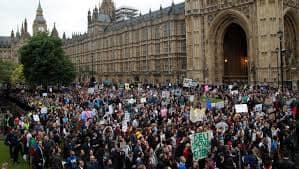 تظاهرات مليونية في لندن ضد الخروج من الأتحاد الاوربي
