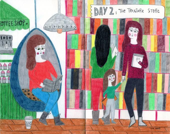 Diario de una ilustradora. Día #2: La tienda de los tesoros