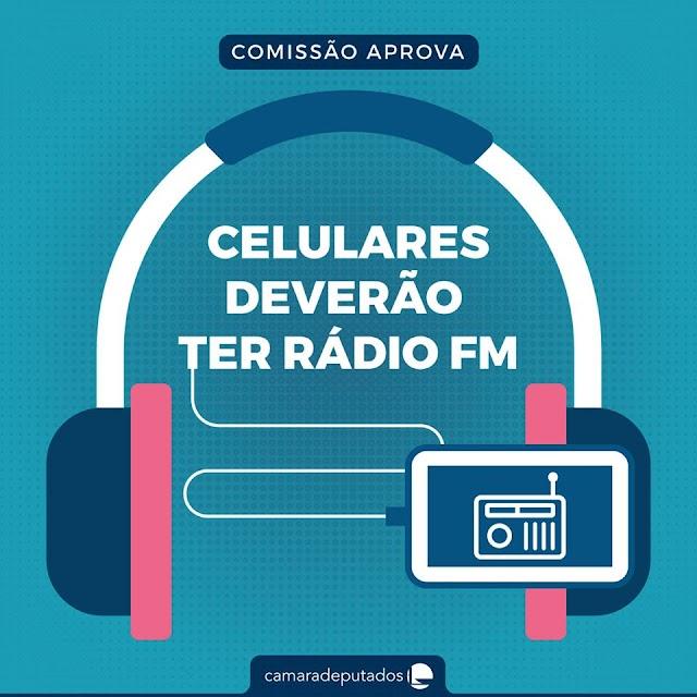 Comissão aprova obrigação de celular ter funcionalidade de recepção de sinais de rádio FM