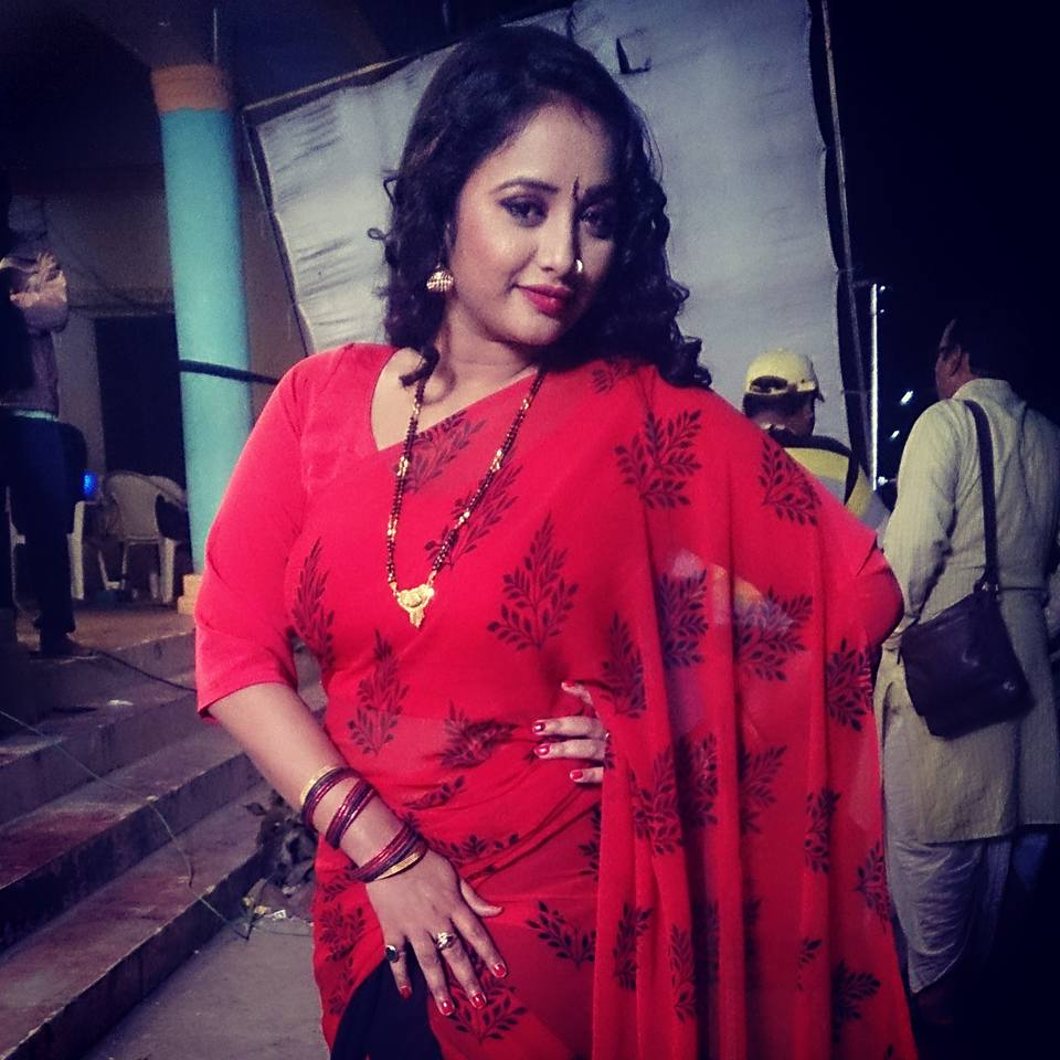 Sanay Panday, Rani Chatterjee, Monalisa Gharwali Baharwali Bhojpuri Movie Shooting stills, Gharwali Baharwali Bhandar Bhojpuri Movie
